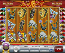 5 Reel Circus is a Rival Gaming Circus Themed Slot