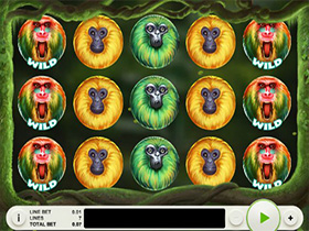 7 Monkey Slot Bonus Screen