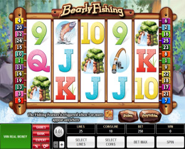 Bearly Fishing Slot - Microgaming