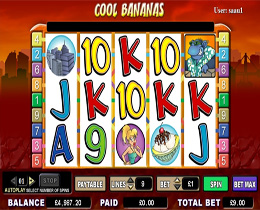Cool Bananas is a WMS Video Slot with a Monkey theme