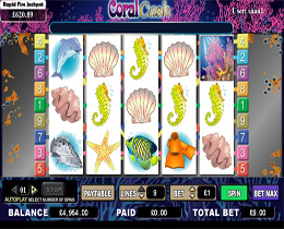 Coral Cash Slot Screenshot
