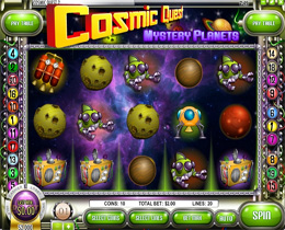 Cosmic Quest Mystery Planets Slot Screenshot