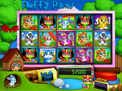 Screenshot of Fluffy Paws Slot