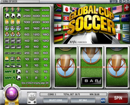 Global Cup Soccer Slots is a Sports themed Classic Slot Game