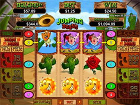 Jumping Beans Slot Screenshot