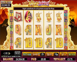 Rajahs Rubies Slot Screenshot
