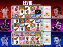 Screenshot of Elvis Slot at Virgin Casino