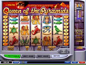 Queen of the Pyramids Slot Screenshot