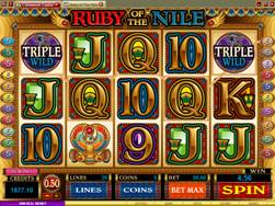 Ruby of the Nile Slot Screenshot